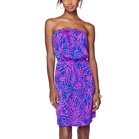 f9964fb7647f Lilly Pulitzer Dresses | Make An Offer Windsor Pull On Strapless ...